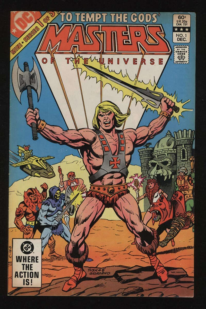 Masters Of The Universe #1 Indianapolis Mall Fine He-Man Skeletor 6.0 MOTU Omaha Mall Pgs CR