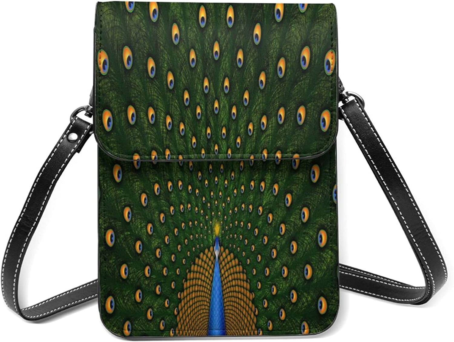 Peacock Flaunting Its Ranking TOP2 Tail Small Purse Cell Phone half Lightweig Flip