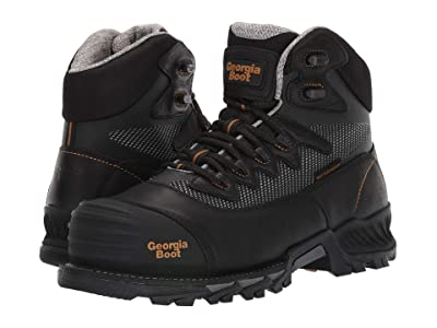 Georgia Boot Rumbler 6 Composite Toe Waterproof Hiker (Black) Men