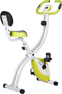 Ultrasport Bicicleta de ejercicio Unisex F-Bike, pantalla LCD, entrenador casero plegable, optativo, con respaldo, niveles...