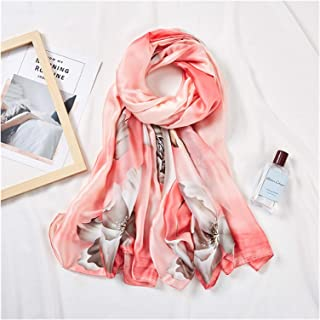 scarf Long Shawl Pink Scarf For Women Floral Print Hijab Scarfs Female 180 * 90 cm Neckerchief Sunscreen Scarves For Ladie...