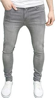Enzo Mens Designer Super Stretch Skinny Fit Jeans