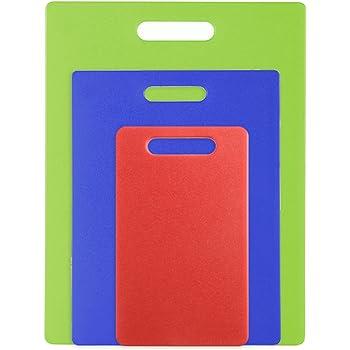 Natural Blue Set of Three Green Dexas 456-3B Jelli Cutting Board