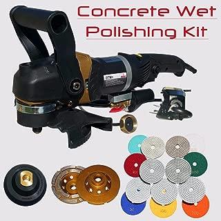 Stadea SWP112K Concrete Countertop Polishing Tools Package - Wet Polisher, Concrete Grinding Wheel, Concrete Polishing Pads Kit for Concrete Countertop Polishing