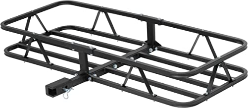 CURT 18145 Basket Trailer Hitch Cargo Carrier 500 lbs. Capacity Universal Mount Rack-1-1/4 Or 2 Inch Receiver