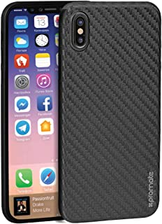 Promate Iphone X Case, Ultra- Thin Flexible Carbon Fiber Anti- Slip Case With Scratch Resistance And Shockproof Non- Bulky...