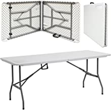 Crystals Premium Quality Heavy Duty 1.8m / 6ft Folding Catering Camping Trestle Table for Dinner & Picnic Party
