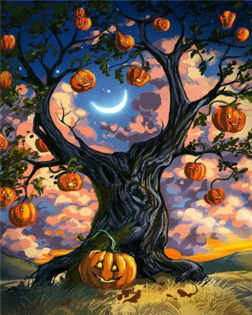 HRKDHBS Be super welcome DIY Oil Paint by Number Kit Halloween Max 88% OFF Painting