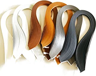 JUYA Paper Quilling Set 600 Strips 6 Colors 39cm Length/Strips 3/5/7/10mm Width Available (Paper Width 3mm)