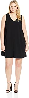 ABS by Allen Schwartz Women's Plus-Size Sleevess Trapeze Dress