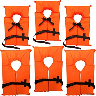 Hardcore Water Sports Type II Neon Orange Life Jacket Vest - Adult Universal or Youth Boating PFD