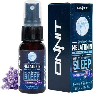 Onnit Instant Melatonin Spray | 3mg Liquid Melatonin Per Serving | Lavender Flavor
