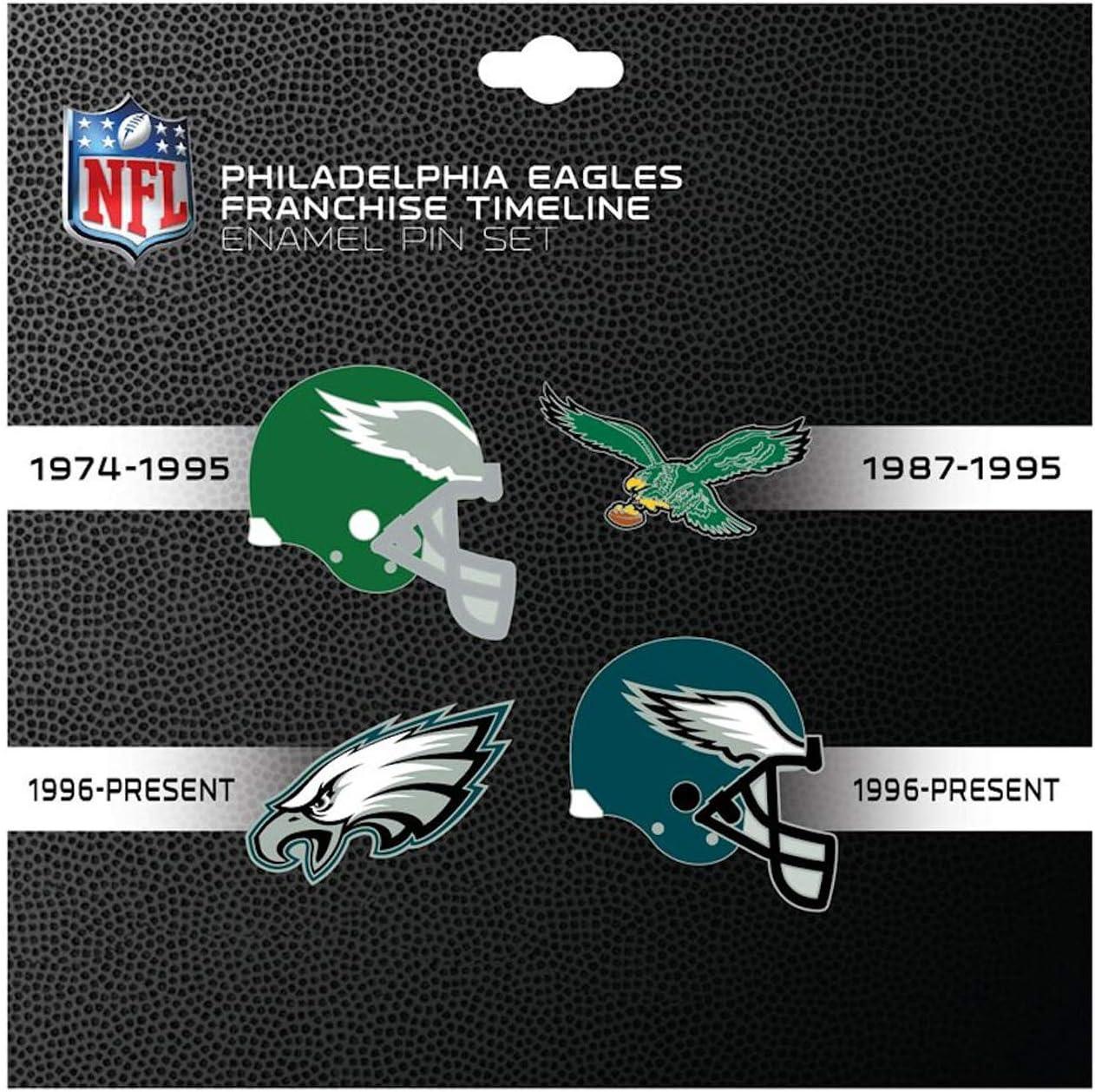 PSG Ranking TOP17 Philadelphia Eagles Lapel pin Set N Franchise Fort Worth Mall Timeline 4-pin