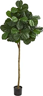 Nearly Natural 6' Fiddle Leaf fig Artificial Silk Trees Green