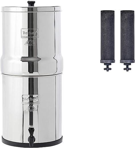 Big Berkey Gravity-Fed Water Filter with 2 Black Berkey Purification Elements