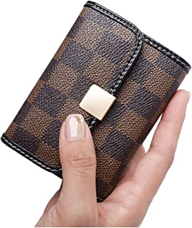 Sueway Women's Small RFID Blocking Card Holder Leather Mini Cute Coin Purse Wallet