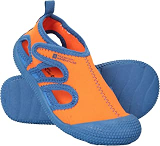 Mountain Warehouse Aqua Junior Shandal - Lightweight Kids Summer Water Shoes, Slip On, Mesh Wet Sandals, Neoprene Wetsuit Shoes - for Pool, Rivers, Beach & Swimming