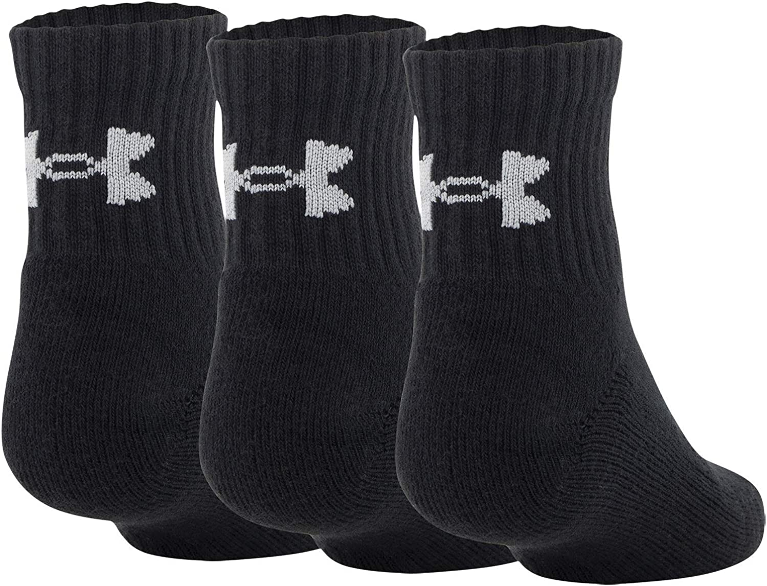 Under National uniform free shipping Armour Youth Training Socks Denver Mall Cotton 3-Pairs Quarter