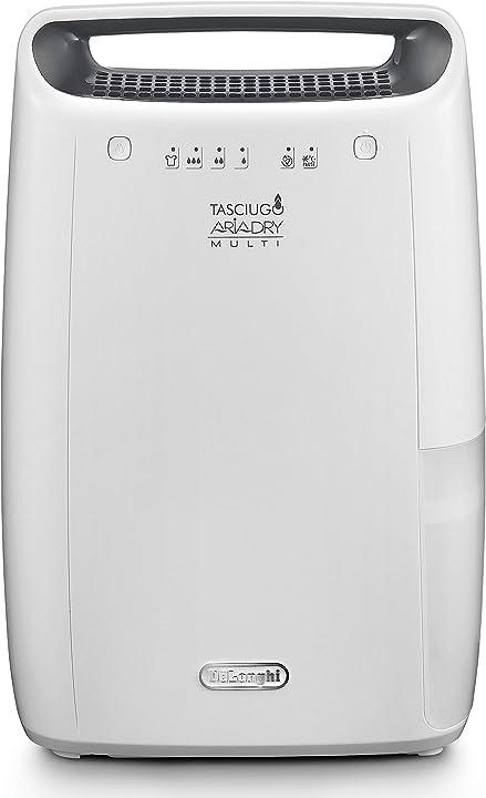Deumidificatore ambiente casa, 300 w, 12 litri, 37 decibel de longhi dex212f tasciugo ariadry