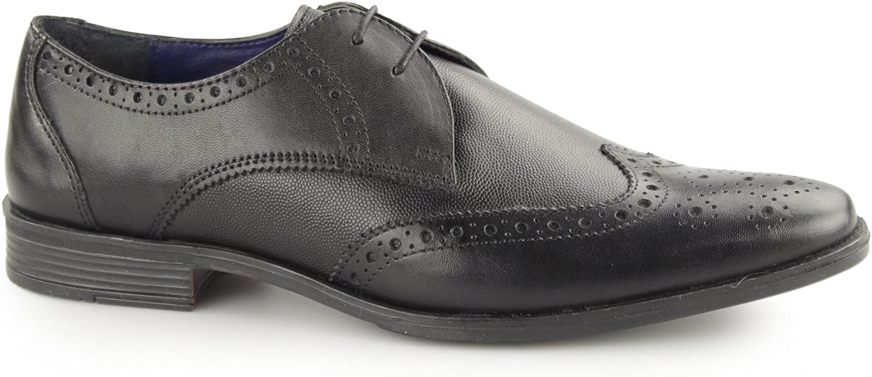 Silver Street London WEST Mens Leather Smart Brogue shoes Black