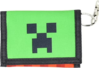 Minecraft Creeper Face TNT Polyester Tri-Fold Wallet Multi-Colored Licensed
