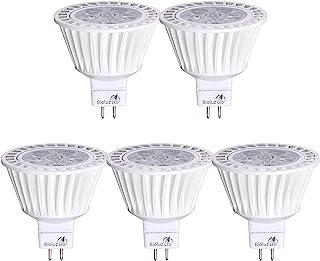 5 Pack Bioluz LED MR16 50W Halogen Equivalent Dimmable 7w 3000K 12v UL listed