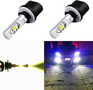 Alla Lighting 3800lm 899 880 LED Fog Light Bulbs Xtreme Super Bright 892 880 LED Bulb ETI 56-SMD LED 880 Bulb for Auto Motorcycle Cars Trucks SUV Fog DRL Lights, 6000K Xenon White (Set of 2)