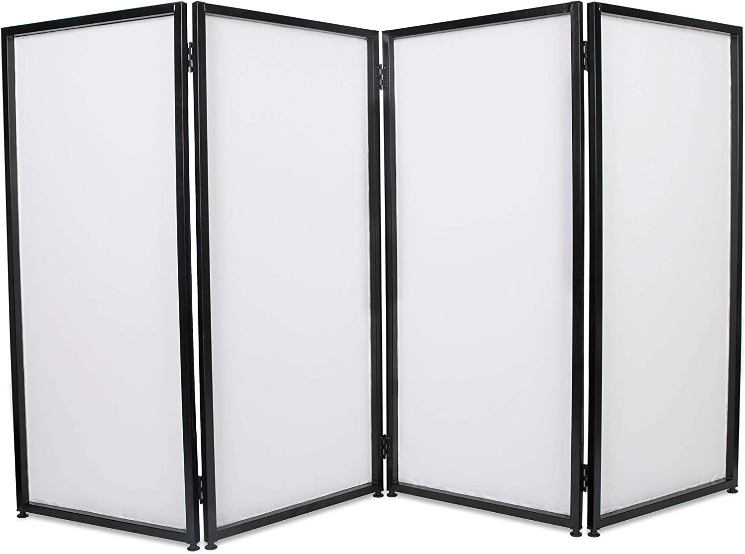ECOTRIC Portable Event Facade DJ Foldable Cover White Bla OFFicial mail New Free Shipping order Screen