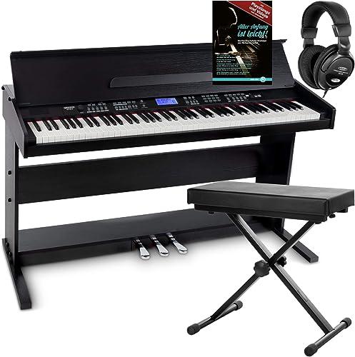 FunKey DP-88 II piano numérique noir set avec banquette de synthé, casque, méthode d'apprentissage
