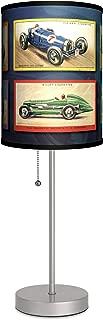 Transportation - Vintage Race Cars Sport Silver Lamp