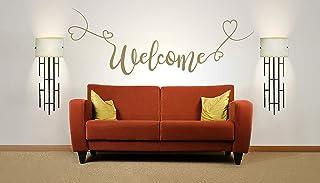Citazione di Welcome Vinile, muro, arte, adesivo. Murale, decalcomania. Casa, decorazione della parete, famiglia, casa, pr...