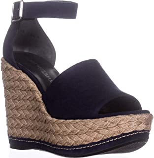 Sohojute Platform Wedge Sandals, Nice Blue Suede, 11 US