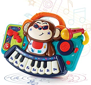 WISHTIME Toddler Music Toy Monkey Piano Keyboard Musical Toy