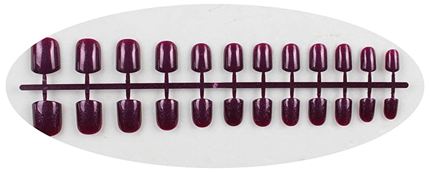 ゴミヒューム懺悔キャンディーカラー24PCS /セット完成した偽爪、短い段落フルネイルチップパッチ、DIYアートツール,GD12