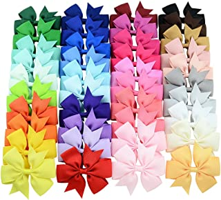 40 Pcs 3 inch Grosgrain Ribbon Baby Girls Hair Bows Alligator Clips Hair Accessories for Infants...