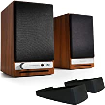 Audioengine HD3 Powered Bookshelf Speaker Bundle with DS1 Desktop Stands - (Pair) Walnut