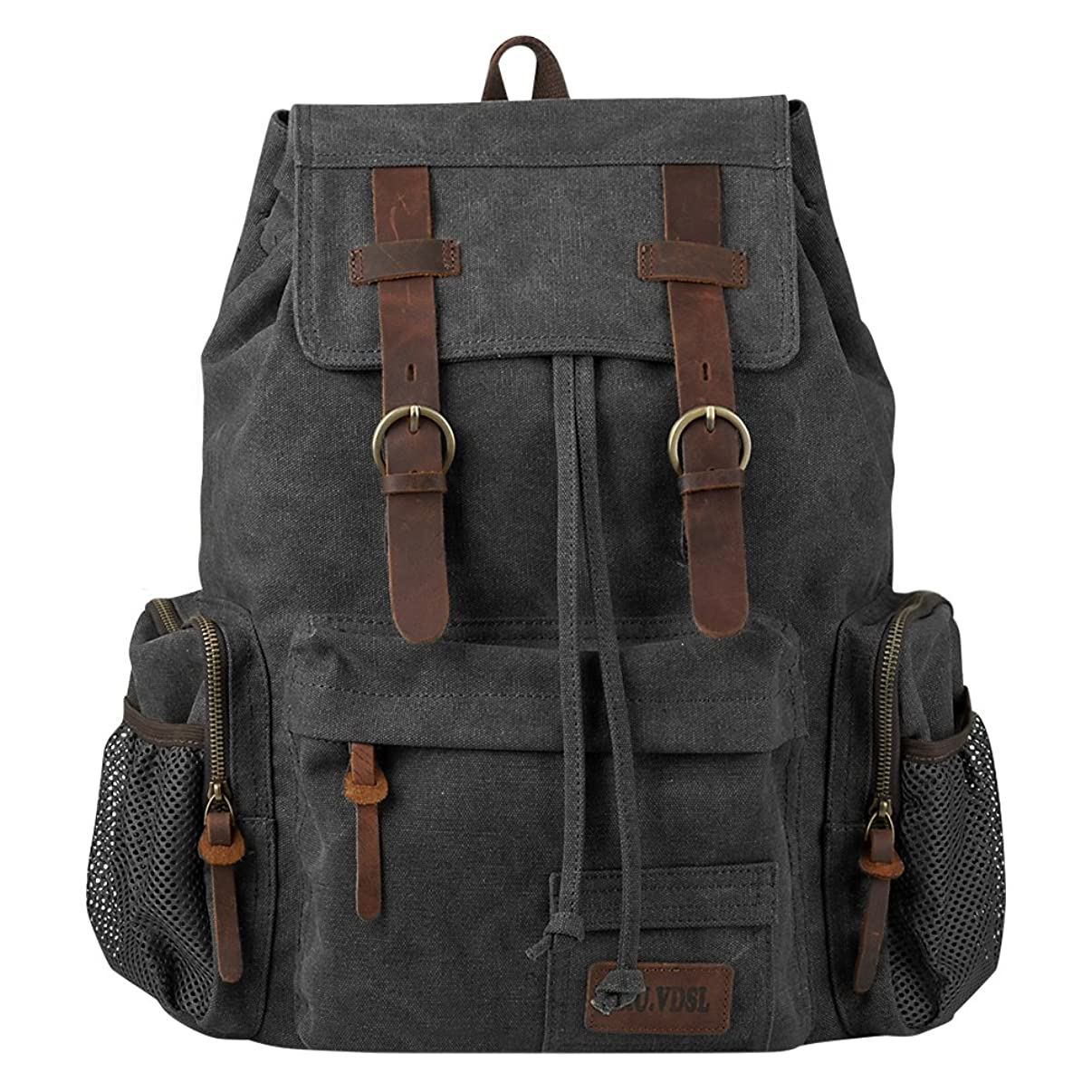 Travel Laptop Backpack, P.KU.VDSL Vintage Backpack Canvas Rucksack for Women Men, Retro School Bookbag Fit 17'' Laptop