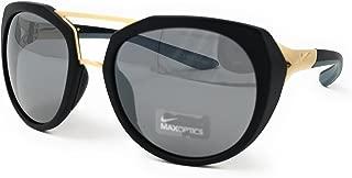 Nike EV1016-010 Flex Motion Sunglasses (Silver Flash Lens), Matte Black