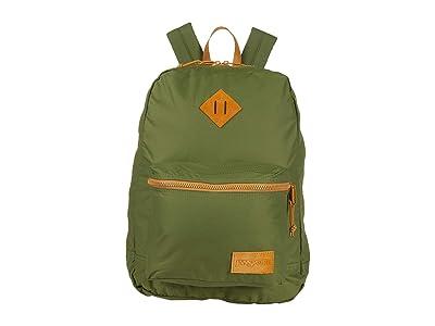 JanSport Super Lite (New Olive/Dijon Brown) Backpack Bags