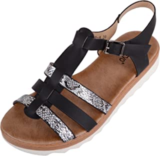 ABSOLUTE FOOTWEAR Womens Summer/Holiday Gladiator Style Sandals/Shoes