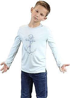 Toddler Boys' Anchor Graphic Print Tee Top - 100% Pima Cotton