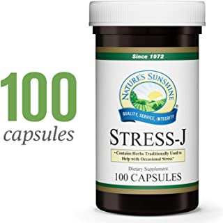 Nature's Sunshine Stress-J, 100 Capsules | This Natural Stress Relief Formula Promotes Feelings of Calm and Helps with Occasional Stress