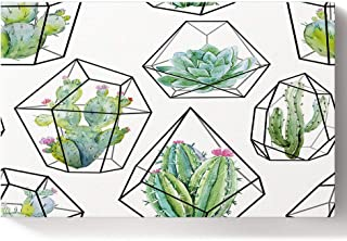 Paint by Numbers Kits DIY Oil Paintings for Adults Kids Beginner with Acrylic Paints and Brushes- Hand Drawn Cactus Framed Canvas Wall Art for Livingroom Bedroom 16x20in