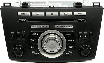 1 Radio de fábrica AM Sintonizador y receptor de FM MP3 6 Cambiador de CD de disco en tablero Compatible con Mazda 3 2010 BBM466ARXB
