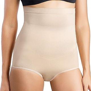 GLAMROOT Women's High Waist/Tummy Control/Tummy Tucker Body Shaper Butt Lifter Shapewear Panty,Beige