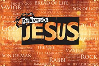 The Names of Jesus Religious Art Cool Wall Decor Art Print Poster 36x24