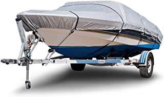 """Budge B-150-X8 150 Denier V-Hull Boat Cover Silver 24'-26' Long (Beam Width Up to 106"""") Lightweight, UV Resistant"""