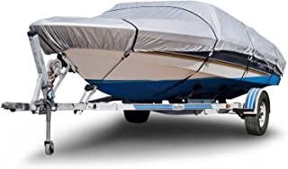 Budge B-150-X8 150 Denier V-Hull Boat Cover Silver 24'-26' Long (Beam Width Up to 106) Lightweight,  UV Resistant