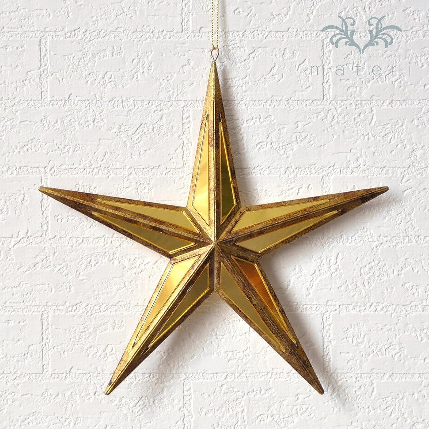 エリート適応読みやすさクリスマスオーナメント/シャインゴールドミラースターS 星モチーフ ※
