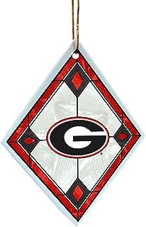 NCAA Georgia Bulldogs Art Glass Ornament